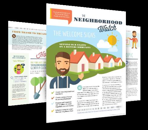 Neighborhood Newsletter Design Template