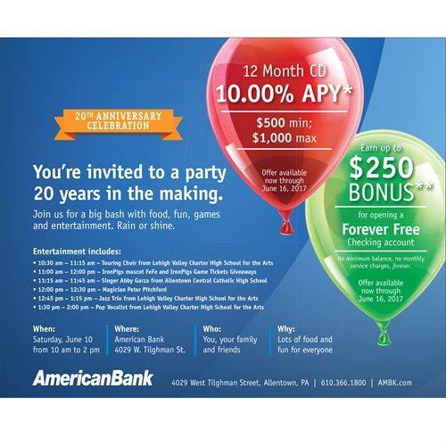 Bank Newsletter Template Design