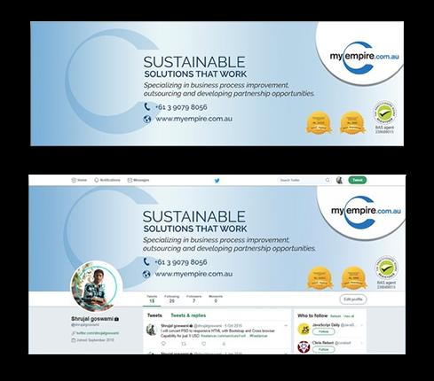 Technology Social Media Page Design