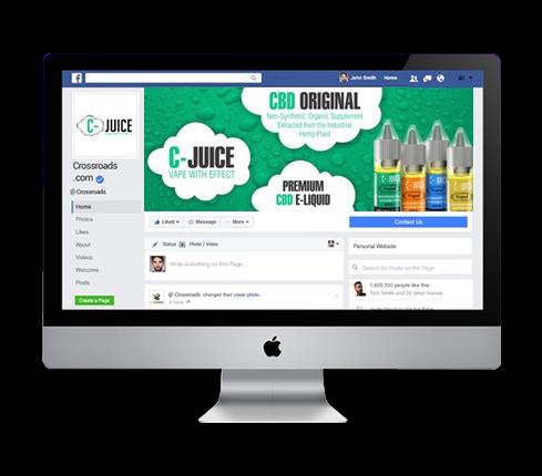 Marijuana Social Media Page Design