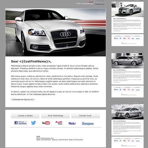 Automotive Newsletter Design