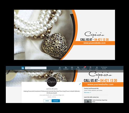 Jewelry LinkedIn Cover Design