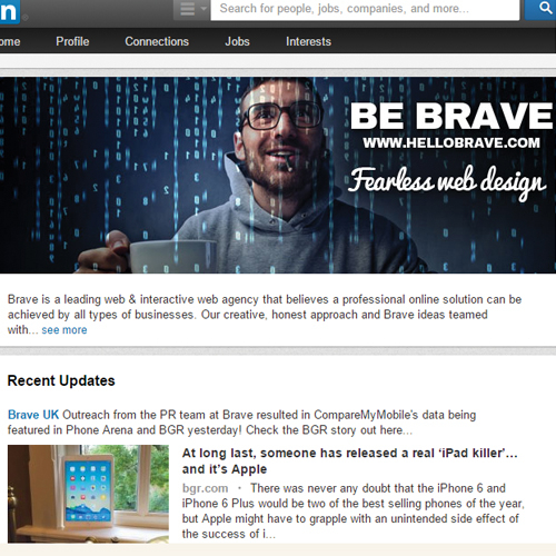 Tech LinkedIn Page Design