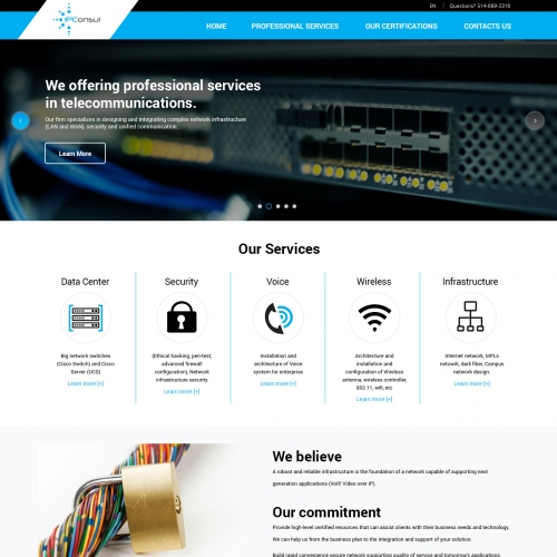 Network Consulting Website Design Projects