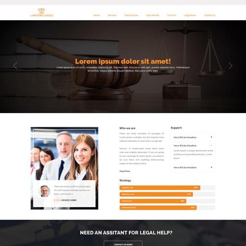Attorney Law Website