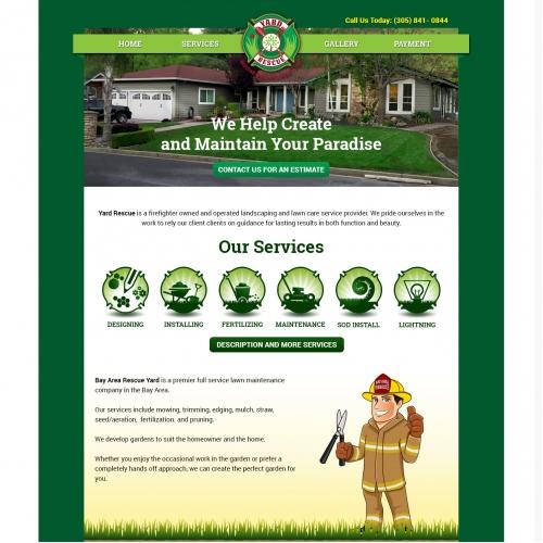 Landscaping Website Templates Design
