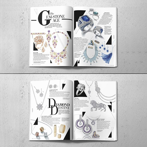 Jewelry Magazine Design
