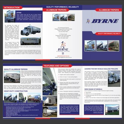 Trucking brochure design