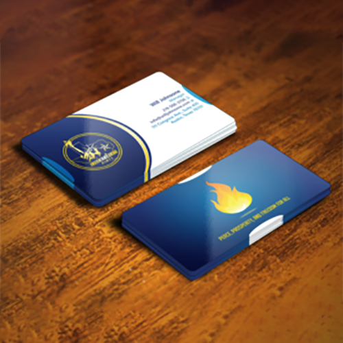 Political Committee Business Card Design