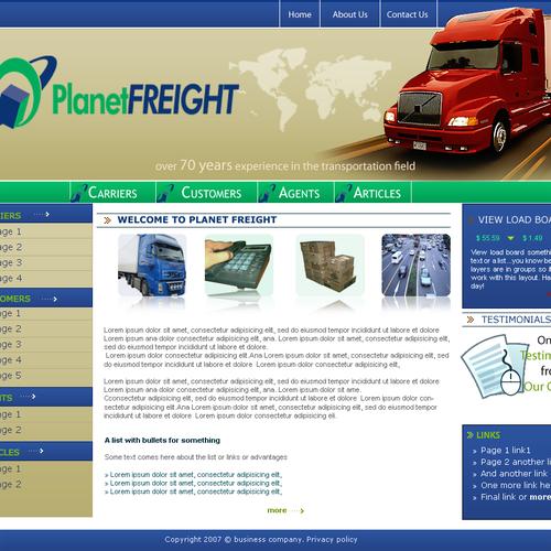 Trucking website templates design