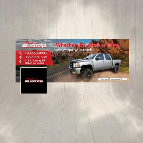 Truck Facebook Cover Design