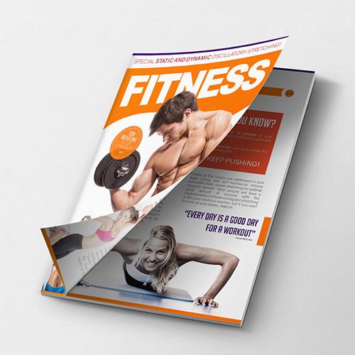 Fitness Magazine cover Design