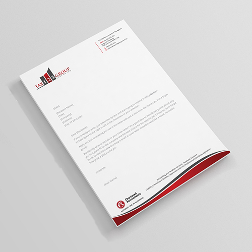 Accounting Letterhead Design