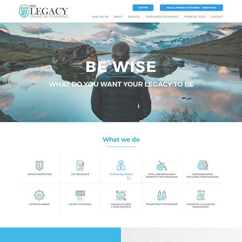 Insurance Website Builder Design