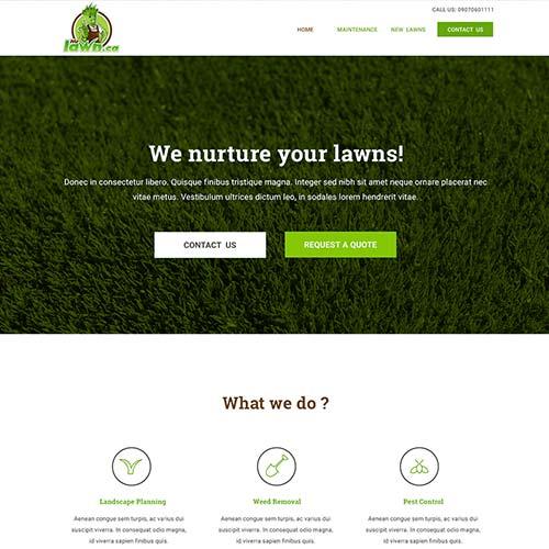 Landscape Website Design