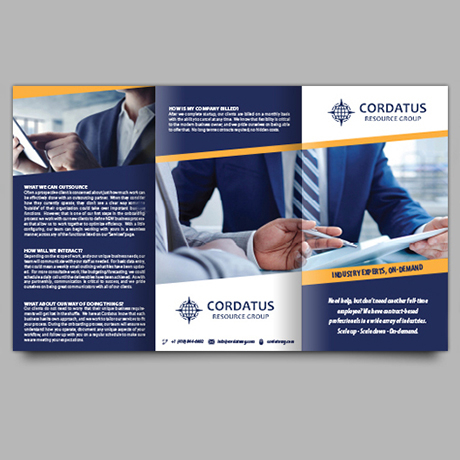 Brochure Design for Business Outsourcing Company