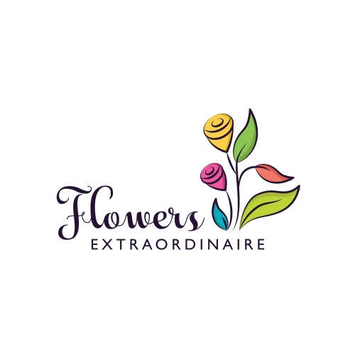 Online Flower & Floral Logo
