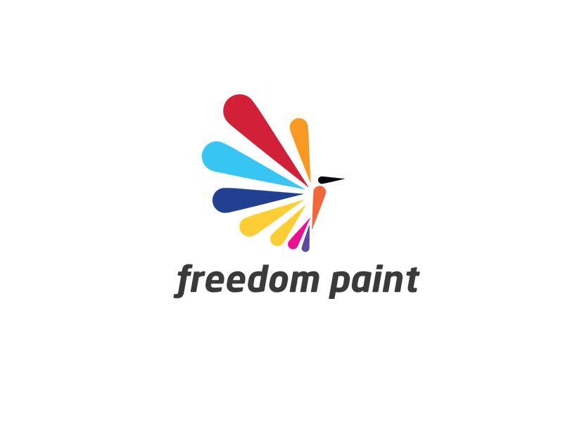 Freedom Logo by Graphics Eye   a perfect logo for Travel & Hotel