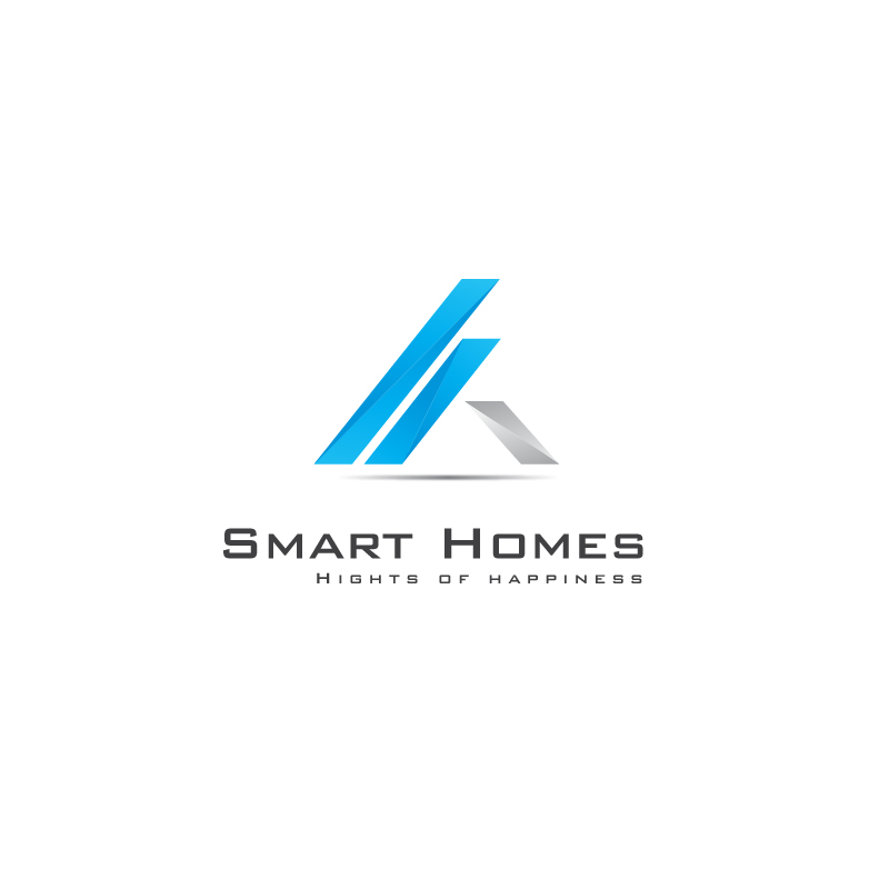 Smart Homes by Ncfour  a perfect logo for Real Estate & Mortgage