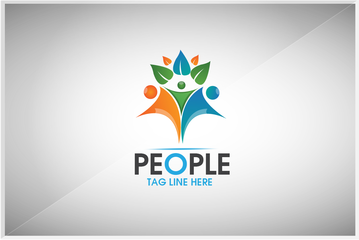 PEOPLE LOGO by Legend  a perfect logo for Medical & Pharmaceutical