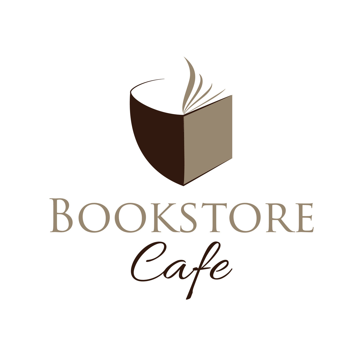 bookstore cafe by brankaeremija  a perfect logo for Education