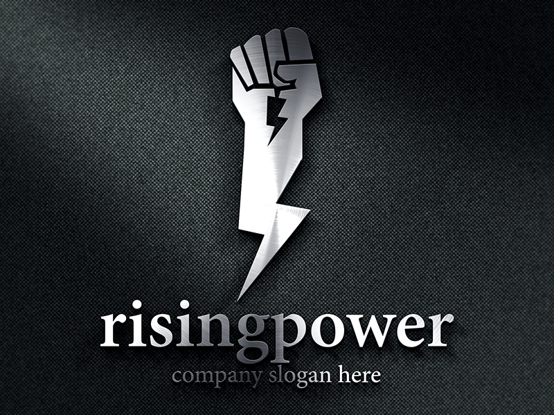 Rising Power by Designdepth  a perfect logo for Physical Fitness