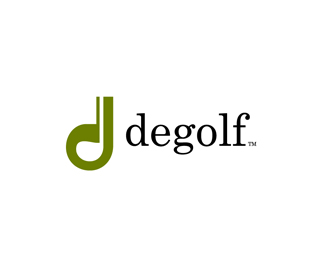 degolf by Brandbox  a perfect logo for Sports