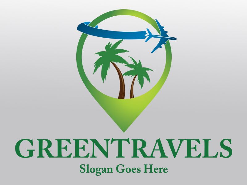 Green Travel by Designdepth  a perfect logo for Travel & Hotel