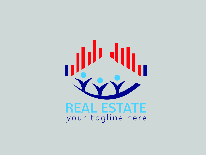 Real Estate Logo by Spectrum  a perfect logo for Real Estate & Mortgage