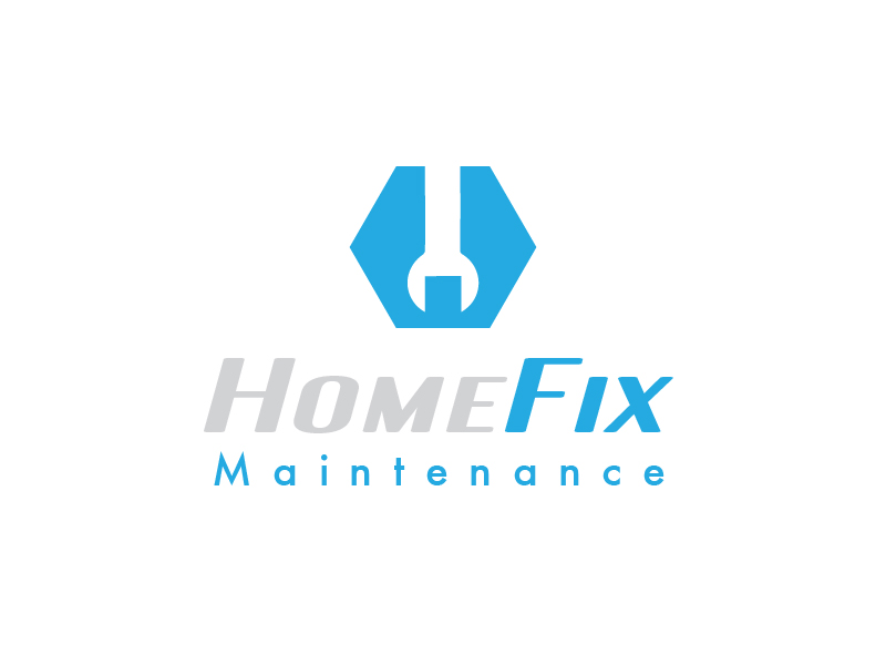 HomeFix by Carlos Fernando  a perfect logo for Cleaning & Maintenance