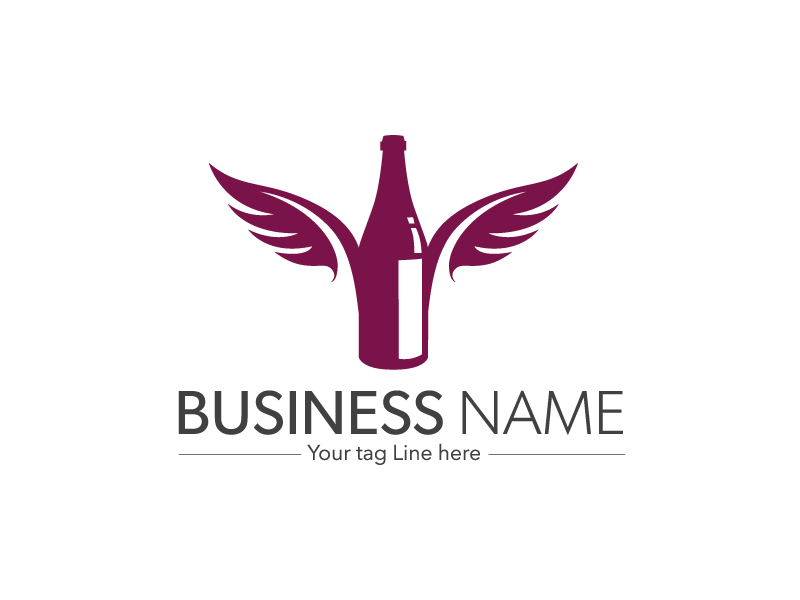 Bottle logo by davis  a perfect logo for Agriculture