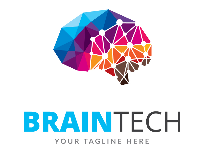 Brain Tech Logo by Maraz  a perfect logo for Technology