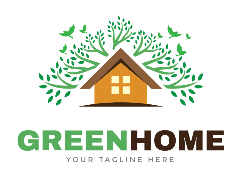 Green Home Logo by Maraz  a perfect logo for Home Furnishings