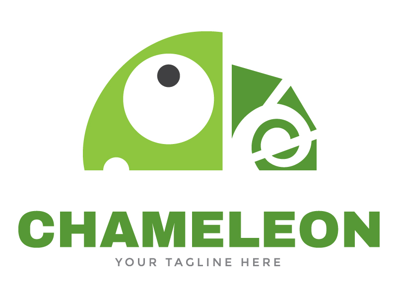 Chameleon Logo Template by Maraz  a perfect logo for Animals & Pets