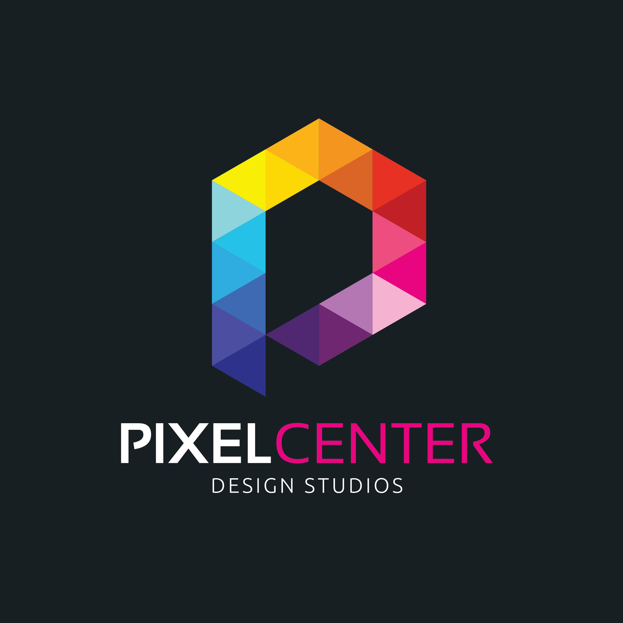 Pixel Center Design Studio by fahadmoten92  a perfect logo for Art & Design