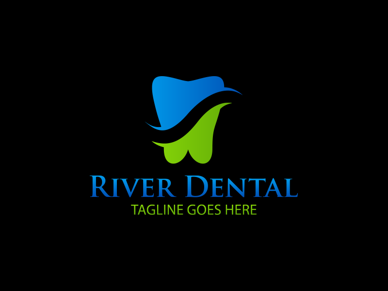 River Dental Logo by Hs Design  a perfect logo for Medical & Pharmaceutical