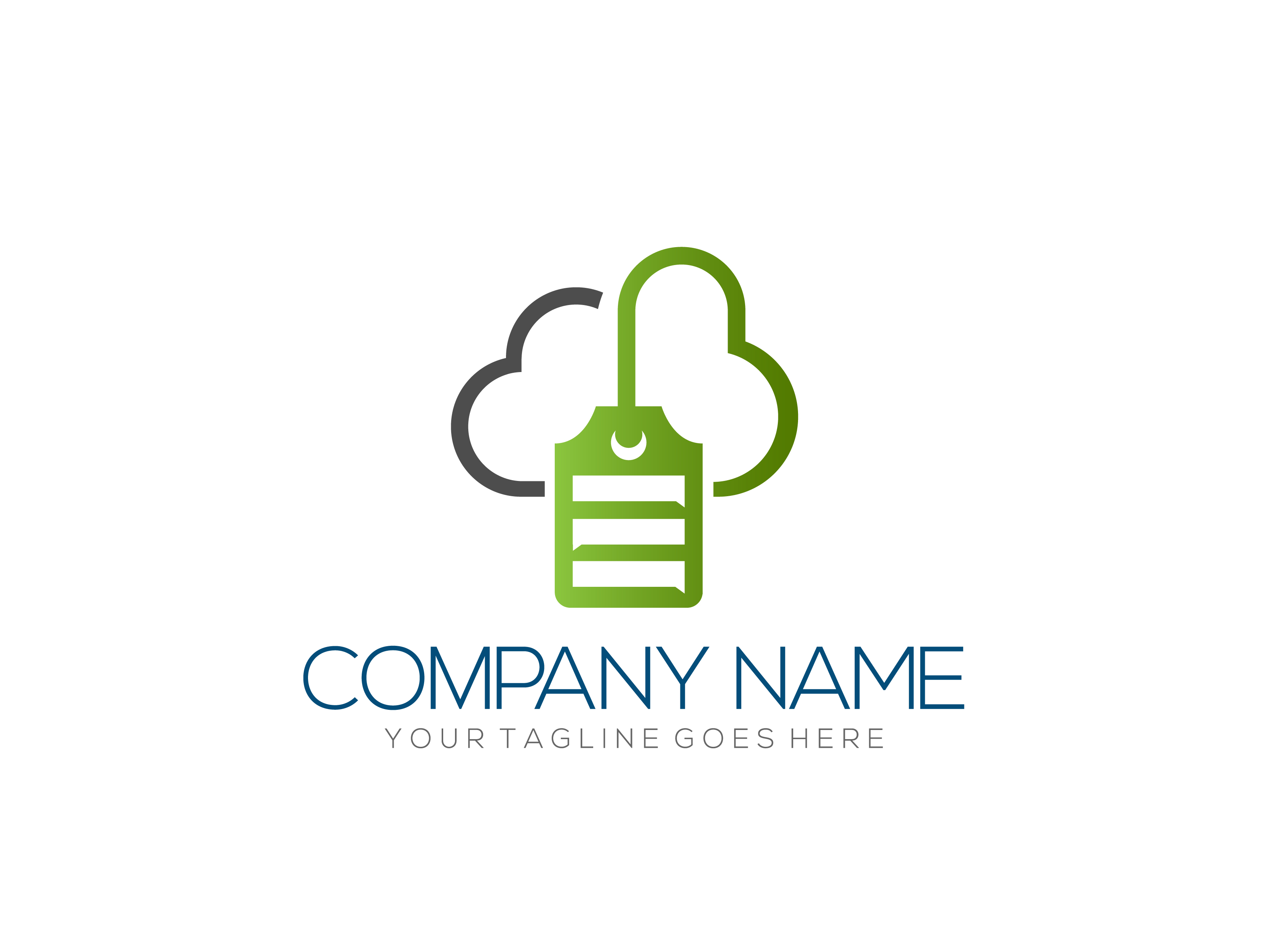 Cloud data tag by Nurul Muflihun  a perfect logo for Computer