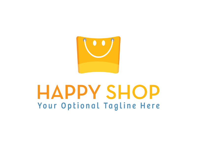 Happy Shopping by Logabo  a perfect logo for Retail
