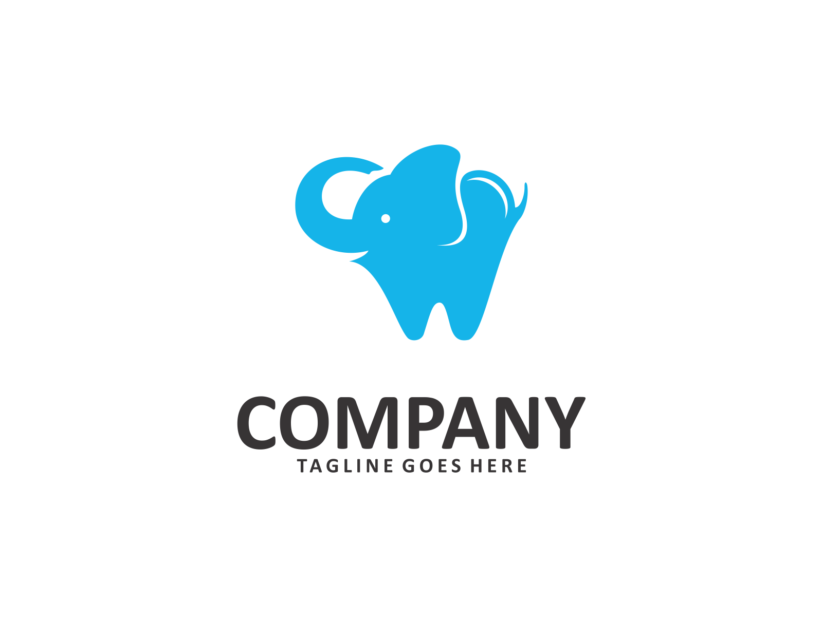 Dental Elephant by Meremelek  a perfect logo for Animals & Pets