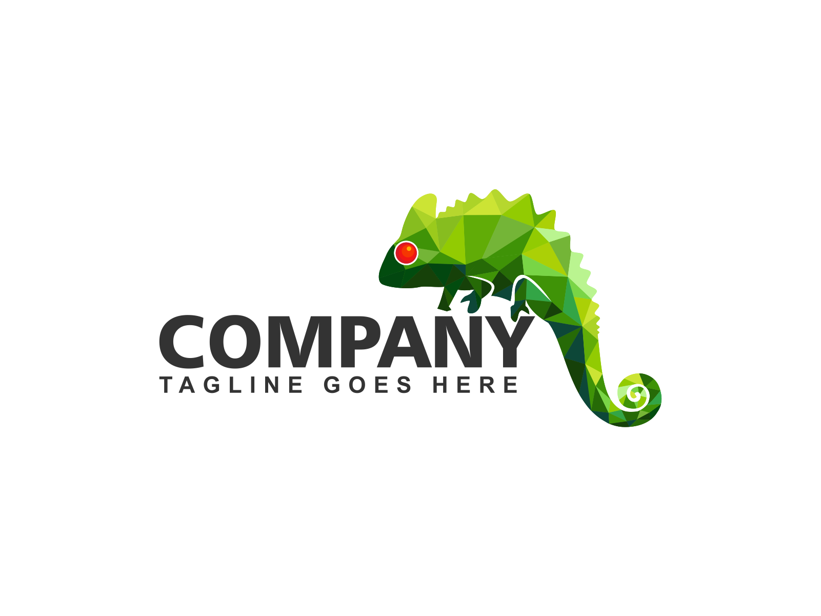 Color Green Chameleon by Meremelek  a perfect logo for Animals & Pets