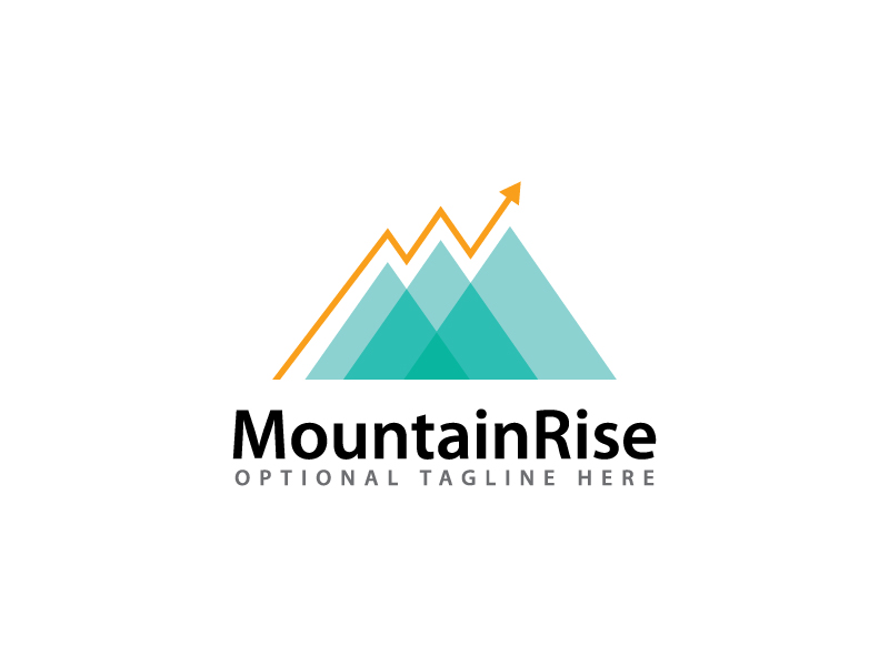 Mountain Rise by lemonsolutions.pk  a perfect logo for Technology