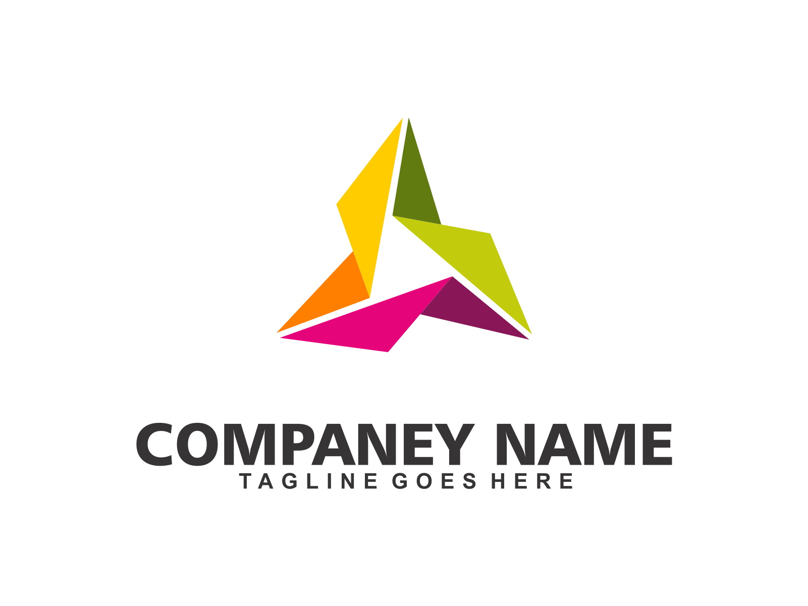 Abstract Triangle by Meremelek  a perfect logo for Accounting & Financial