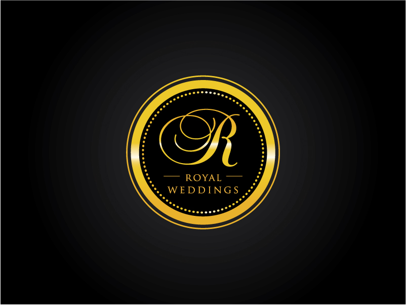 Gold & Black logo by Mariana  a perfect logo for Wedding Services