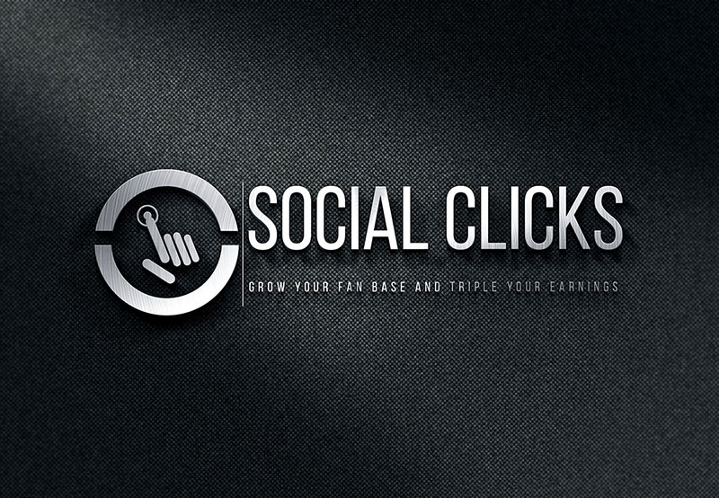 Click logo by Aaric Scarlett  a perfect logo for Technology