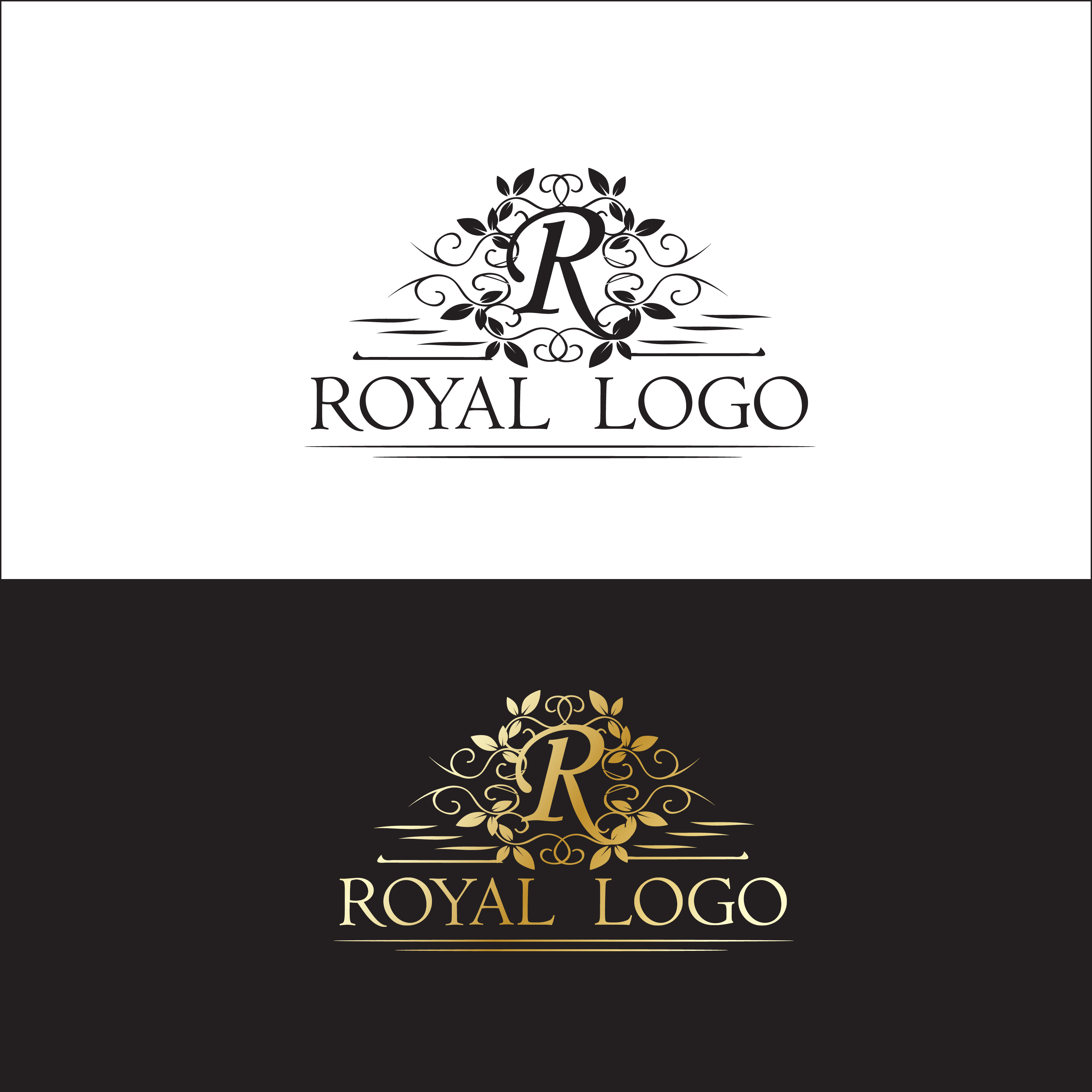 Royal letter R floral logo by Mediazona  a perfect logo for Spa & Esthetics