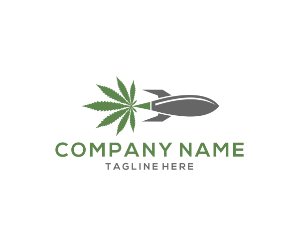 Cannabis Rocket by Ns Design  a perfect logo for Medical & Pharmaceutical