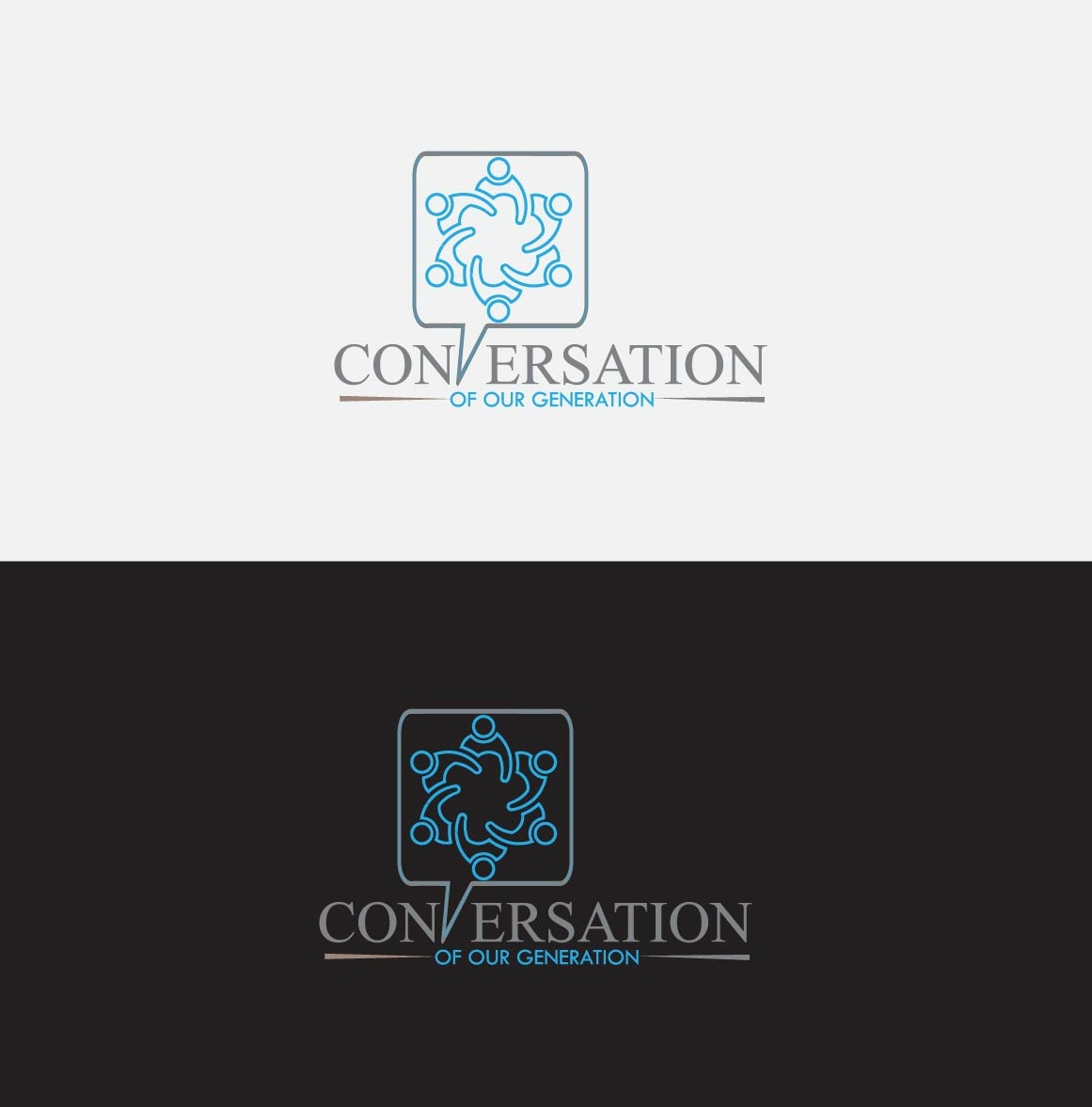 Conversation of our generation by Wazid.biz  a perfect logo for Accounting & Financial