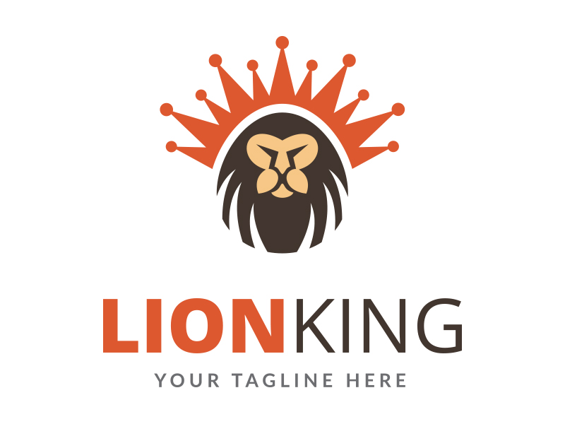 Lion King Logo by Maraz1971  a perfect logo for Animals & Pets
