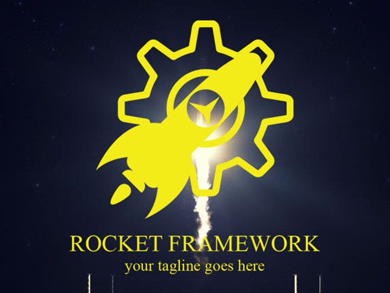 ROCKET FRAMEWORK LOGO by Rahatkhan231  a perfect logo for Architectural