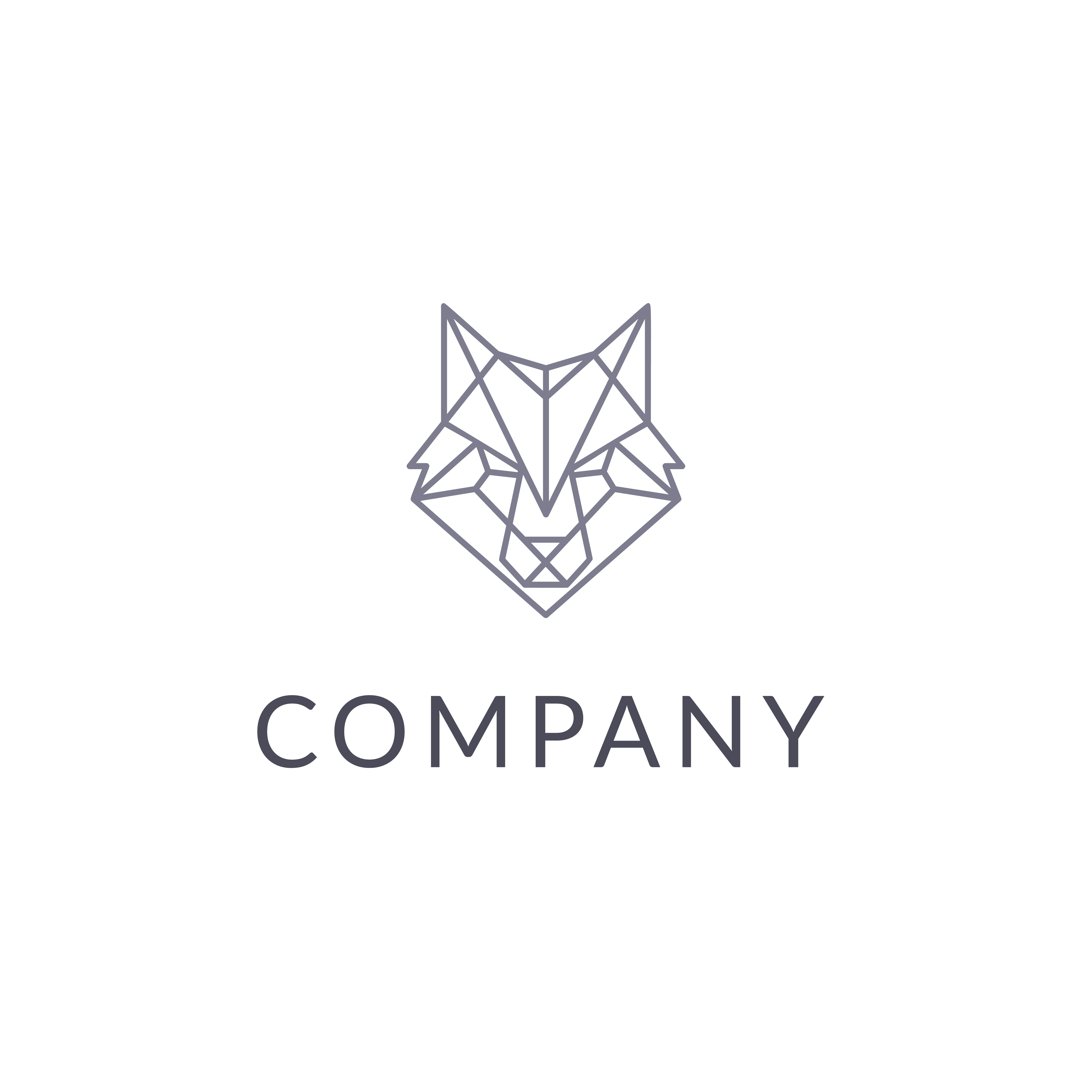 Polygonal wolf by Pykhtik  a perfect logo for Animals & Pets
